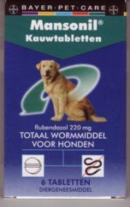 Mansonil Kauwtabletten tegen wormen