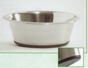 RVS eet- of drinkbakje met antislip bodem