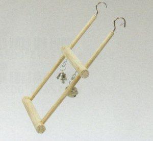 Houten trapeze schommel