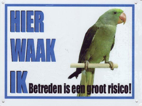 Waakbord Alexanderparkiet-0