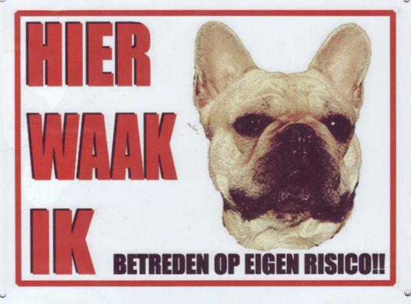 Waakbord Franse Bulldog fawn-0