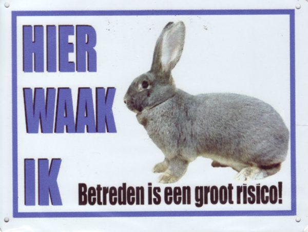 Waakbord Vlaamse Reus-0