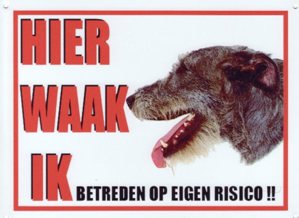 Waakbord Ierse Wolfshond-0