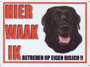 Waakbord Labrador zwart-0