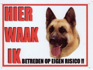 Waakbord Duitse Herder-0