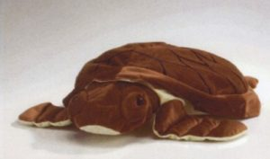 Pluche ligkussen Schildpad