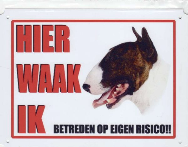 waakbord bull terrier