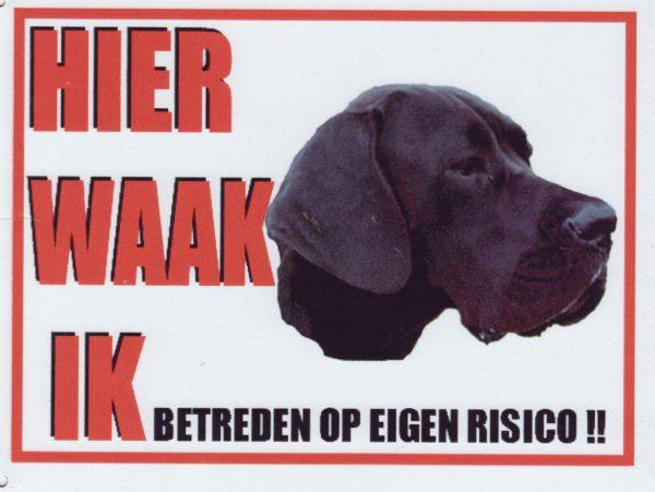 Waakbord Duitse Dog Blauw-0