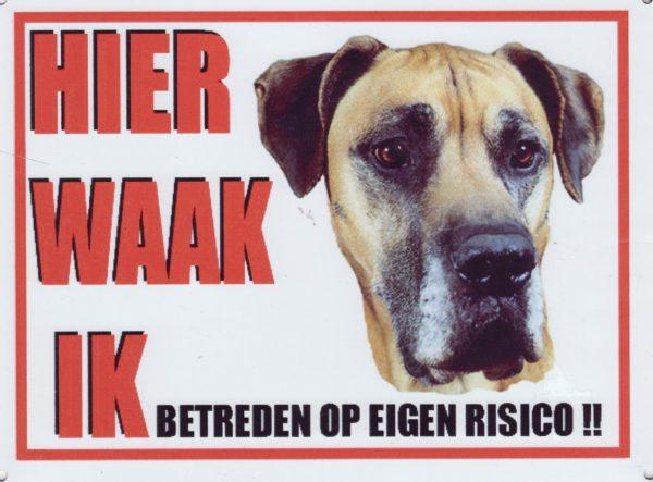 Waakbord Duitse Dog bruin-0