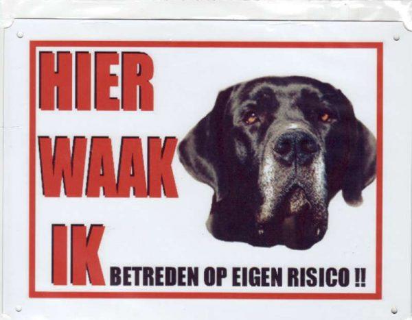 Waakbord Duitse Dog zwart-0