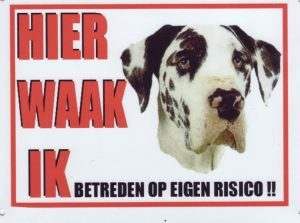 Waakbord Duitse Dog Harlekijn-0
