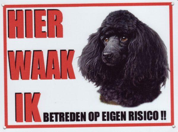 Waakbord Poedel zwart-0