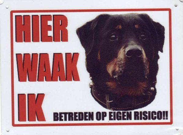 Waakbord Rottweiler 2 voor HB-0