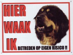 waakbord tibetaanse mastiff
