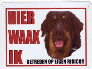 Waakbord Hovawart black and tan-0