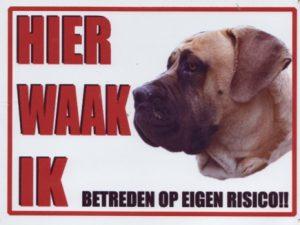 Waakbord Boerboel-0