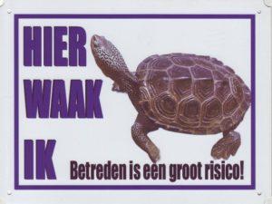 Waakbord Schildpad-0