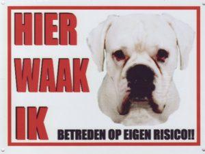 Waakbord Boxer wit-0