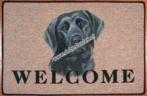 Deurmat Labrador Zwart-0