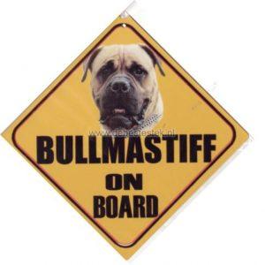Autobordje Bullmastiff Blond-0