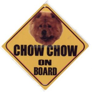 Autobordje Chow Chow Bruin-0