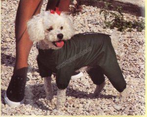 Hondenjas Paris extra dik 45 cm Groen
