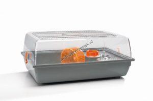 Hamsterkooi Alex grijs - oranje