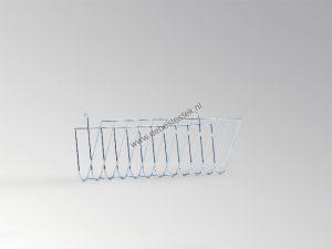 Hooiruif metaal U-vorm