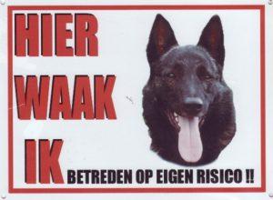 XL waakbord Hollandse Herder-0