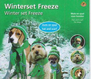 Winterset Freeze muts en sjaal voor honden M-0