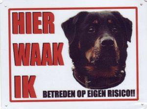 XL waakbord Rottweiler met hb-0