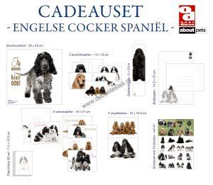 Engelse cocker spaniel cadeauset-0