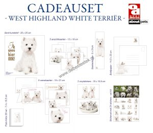 West highland white terrier cadeauset-0