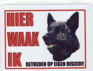Waakbord Hollandse Herder korthaar 3-0