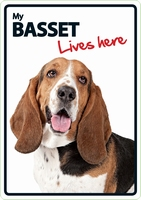 OD Waakbord Basset lives here-0