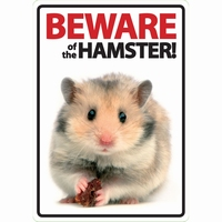 OD Waakbord Beware of the Hamster-0