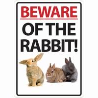 OD Waakbord Beware of the Rabbit ( konijn )-0