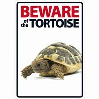 OD Waakbord Beware of the Tortoise ( schildpad )-0
