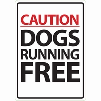 OD Waakbord Dogs running free A5 staand-0