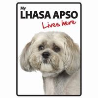 OD Waakbord Lhasa Apso lives here -0