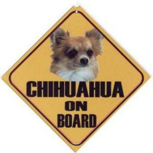 chihuahua langhaar autobord