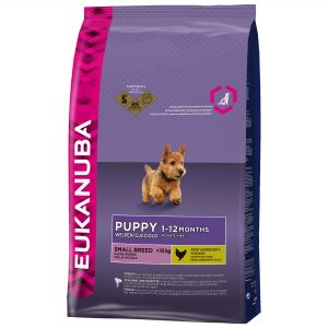 Eukanuba puppy droog hondenvoer klein ras 1 kg Kip -0