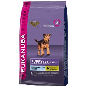 Eukanuba puppy droog hondenvoer grote rassen 12 kg kip -0