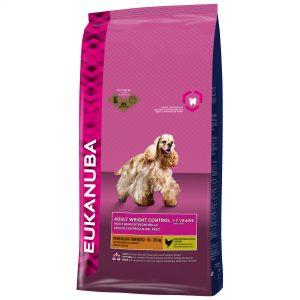 Eukanuba adult droog hondenvoer gewichtsbeheersing middelgrote rassen kip 12 kg-0