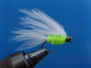 kunstvlieg cats whisker green 10-0