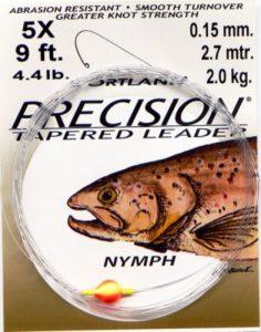 Cortland Precision Leader Nymph 9 foot 5X 4.4 Lb-0