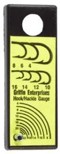 Fly Tying Tools - Griffin Hook/ Hackle Guage-0