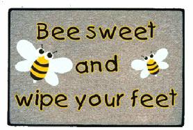 deurmat bee sweet