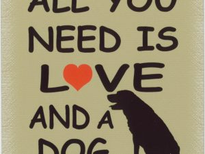 all you need is love and a dog beige
